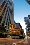 cable car station at the embarcadero in downtown san francisco. - stock photo