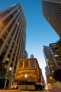 Cable car station at the embarcadero in downtown san francisco. Stock Photos