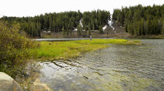 Mammoth Lakes LM17 Twin Falls Twin Lakes Sierra Nevada Mts California - stock footage