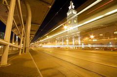 Ferry building at the embarcadero in downtown san francisco. Stock Photos