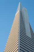 Famous transamerica landmark building in san francisco Stock Photos