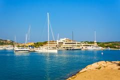Stock Photo of harbor porto cervo, sardinia