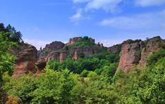 natural phenomenon in bulgaria, belogradchik rocks .sustainable development o - stock photo