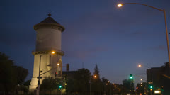 Old Water Tower - wide angle Stock Footage
