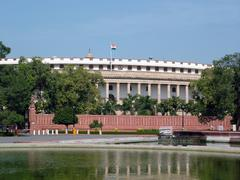 Indian Parliament House Stock Photos
