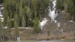 Mammoth Lakes LM20 Twin Falls Sierra Nevada Mts California - stock footage