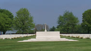 Stock Video Footage of Stone of Remembrance zoom out memorial wall war cemetery