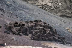 alien landscape of lanzarote - stock photo