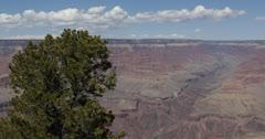 Ultra HD 4K Aerial View Grand Canyon South Rim Mather Point Yavapai  Arizona USA Stock Footage