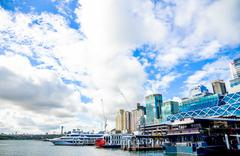 darling harbour in sydney australia - stock photo