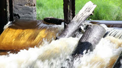 Old dam on river Stock Footage