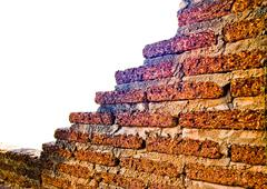 old brickwork wall1 - stock photo