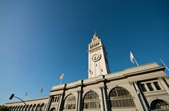Ferry building at the embarcadero Stock Photos