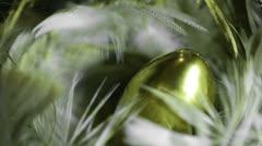 Golden gold nest egg Stock Footage