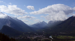 Banff Valley Time Lapse Stock Footage