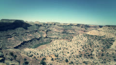 Desert shot of grand canyon Stock Footage