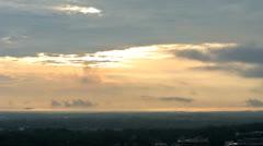 Hazy Sunset Timelapse Stock Footage