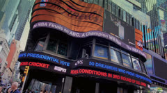 ABC Studios in Times Square - stock footage