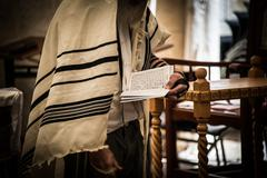 Jewish Man at Prayer Stock Photos