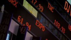 Times Square Stock Market Ticker Stock Footage