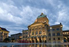 federal palace of switzerland - stock photo