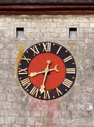 Medieval clock face Stock Photos