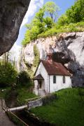 secluded church - stock photo