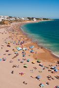 Albufeira beach in algarve Stock Photos