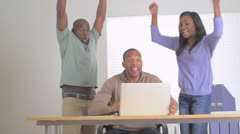 Happy businessteam reached their goal Stock Footage