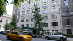 Stock Video Footage of New York City Apartment Building Establishing Shot