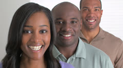 Happy African busines team - stock footage