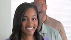 Confident black businessteam Stock Footage