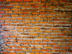 cement brickwork wall - stock photo