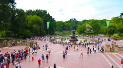 Bethesda Fountain in Central Park - stock footage