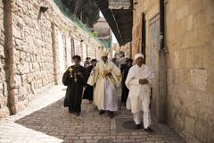 Greek Orthodox Pilgrims in Jerusalem - stock photo