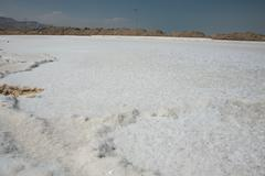 Salt Crystals by the Dead Sea - stock photo