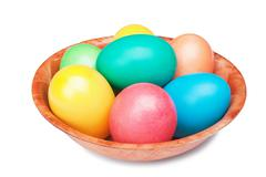 Stock Photo of multicolored easter eggs