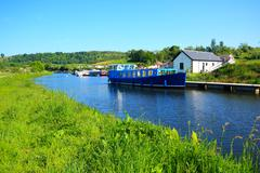 forth and clyde canal in scotland - stock photo
