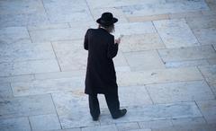 Orthodox Jew at Prayers - stock photo