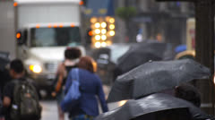 Rainy New York Streets - stock footage