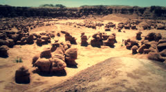 rock formations in goblin valley state park southern utah - stock footage