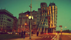 Dancing House,Prague,hd Stock Footage