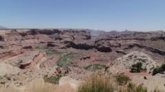 Beautiful jib shot of grand canyon Stock Footage