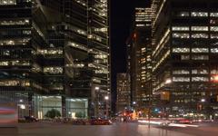 night streets - stock photo