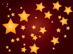 abstract red background with stars - stock illustration