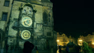 Stock Video Footage of Astronomical Clock on the Old Town Square
