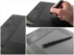 Modern graphic tablet Stock Photos
