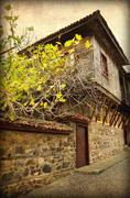 Very old house in sozopol, bulgaria. retro style picture Stock Photos
