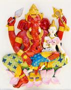 indian or hindu god named sankatahara ganapati , thailand - stock photo