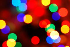 christmas lights glowing (blur motion background) - stock photo